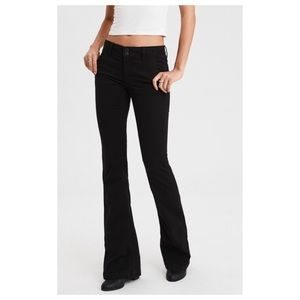 American Eagle black artist super stretch jeans 14